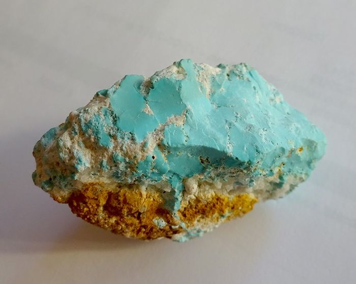 Genuine Persian Turquoise from the Mines of Nishapur - 55×41×26 mm - 56 g
