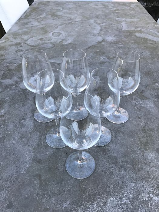 Dom Perignon set of 6 Crystal Glasses by Spiegelau - Champagne