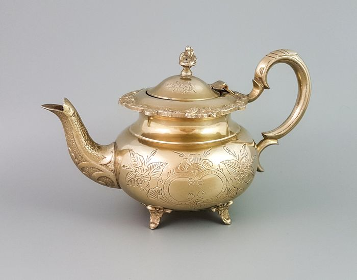 Sheffield - Teapot (1) - Directoire - Brass