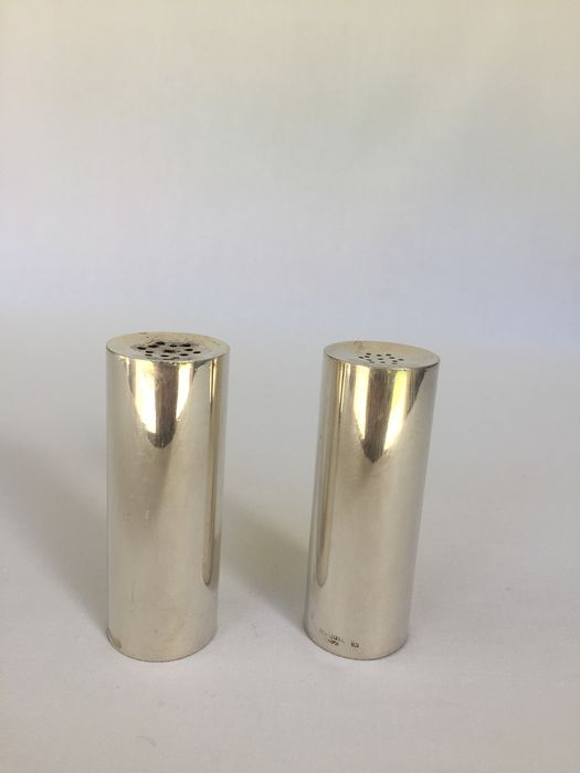 lino sabattini - CHRISTOFLE  - Salt and pepper shakers (2) - Silver plated
