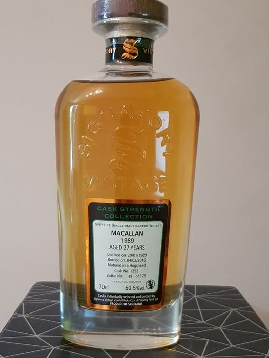 Macallan 1989 27 years old - One of 179 - Signatory Vintage - 70 cl