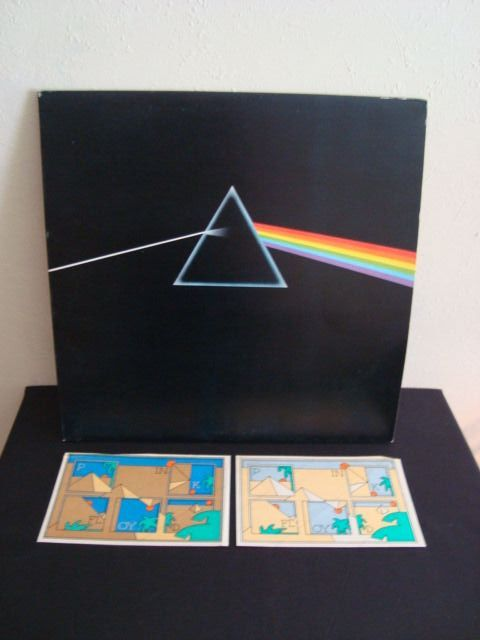 Pink Floyd - The Dark Side Of The Moon - Blue Empty Prism Labels UK Pressing - Including 2 original stickers - LP Album - 1973