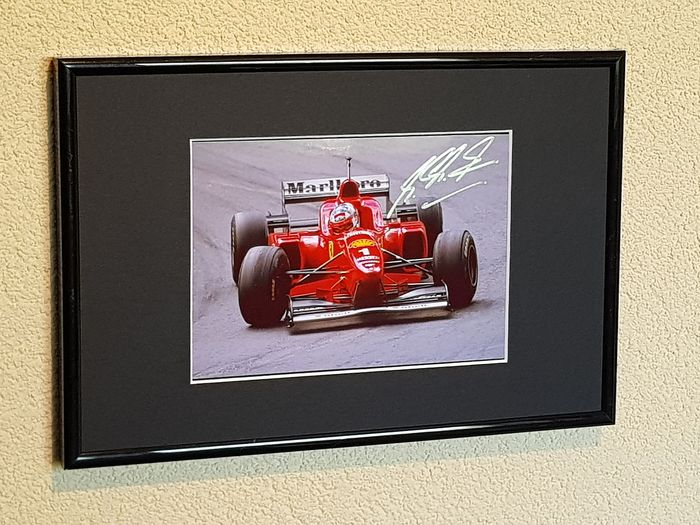 Ferrari - Formule 1 - Michael Schumacher - 7x World Champion Formula 1 - photo encadrée signée à la main