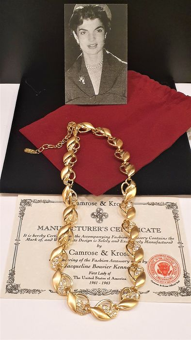 CAMROSE&KROSS Jackie Kennedy Gold plated Crystal - Necklace