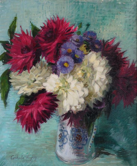 Nelly Cathala Mongoin (1916-) - Fleurs