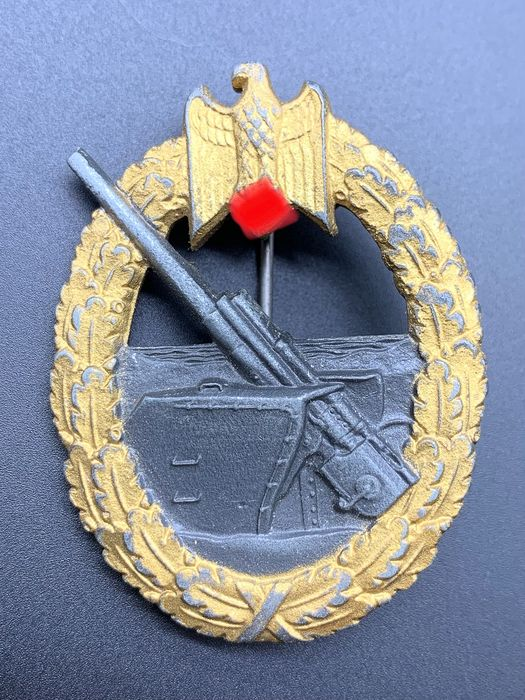 Germany - marine - Mint Navy Artillery War Badge FLL43 - 1943
