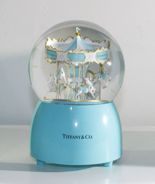 Tiffany & Co - Spinning carroussel with music box - Christmas VIP gift - Glass