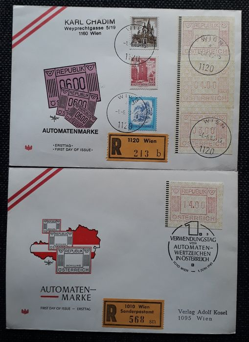 "Austria 1963/1995 - Reprints - vignettes - ""Christkindl"
