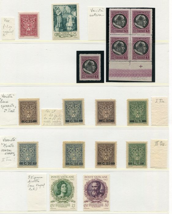 Vatican City 1930/1980 - Collection starting with semi-classics including variations