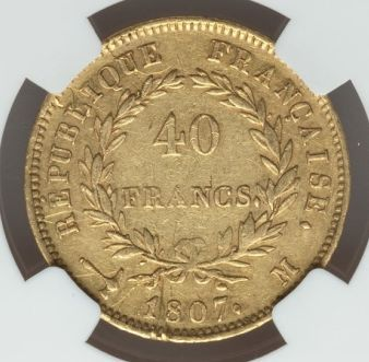 France - 40 Francs 1807-M Napoléon I - Gold