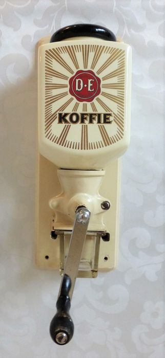 Douwe Egberts Wand coffee grinder - Pottery - metal - wood - glass