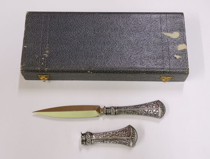 Art Deco letter opener and stamp c1920 - .800 silver - Germany - Early 20th century