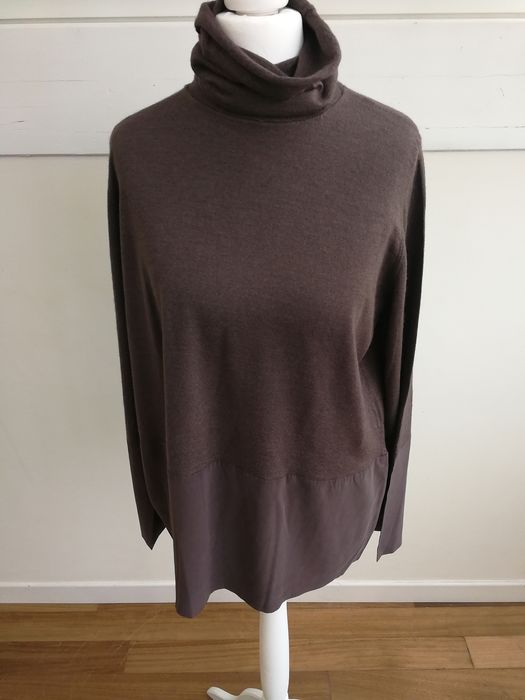 more photos 2433d eee21 Brunello Cucinelli - Cashmere pullover and silk inserts - no reserve - -  Size: XL donna - Catawiki