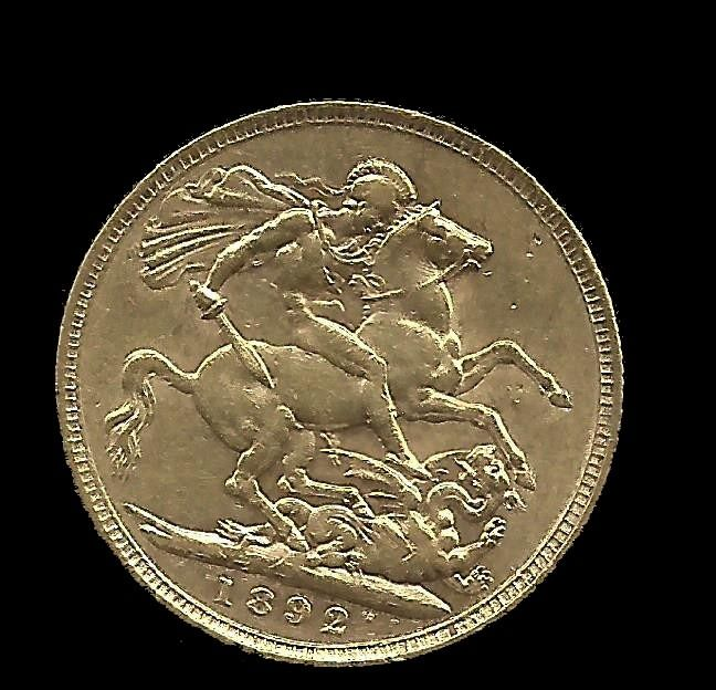 United Kingdom - Sovereign 1892 Victoria - Gold