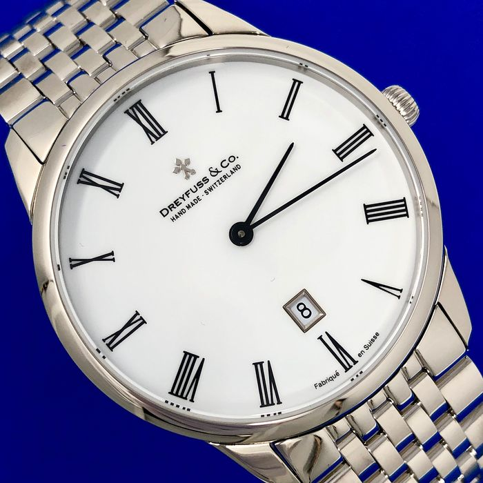"Dreyfuss & Co. - Series 1980 Stainless Steel Bracelet Swiss Made - ""NO RESERVE PRICE"" DGB00135/01 - Hombre - Brand New"