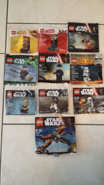 LEGO - Star Wars - 10 Polybags - Figure - 2000-Present