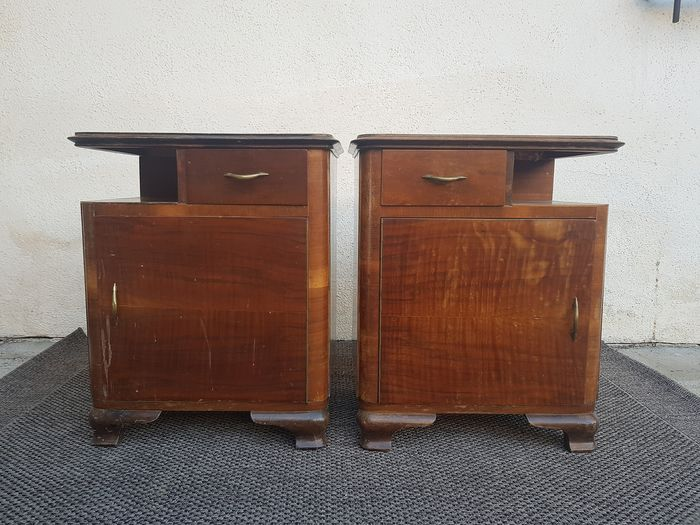 Pair of Art Deco bedside tables (2)