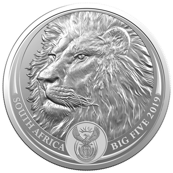 South Africa - 5 Rand 2019 Lion - Big Five Serie - 1 oz - Silver