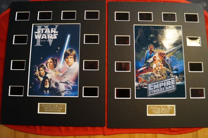 Star Wars - Set of 2 - A New Hope & The Empire Strikes Back   - 35mm Film cell Display