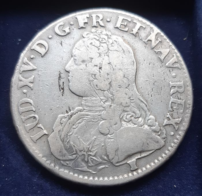 France - Louis XV - Ecu 1730 (Rennes) - Silver