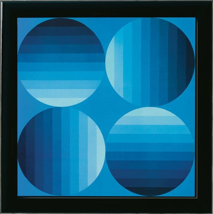 Victor Vasarely - ''Progressions 2'' -  ''HOLD-K, 1965''