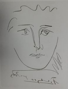 Pablo Picasso (after) - Visage pour Roby