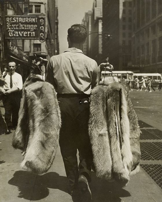 Elizabeth R. Hibbs (XX)/European Picture Service - Furs on 7th Avenue in August, NYC