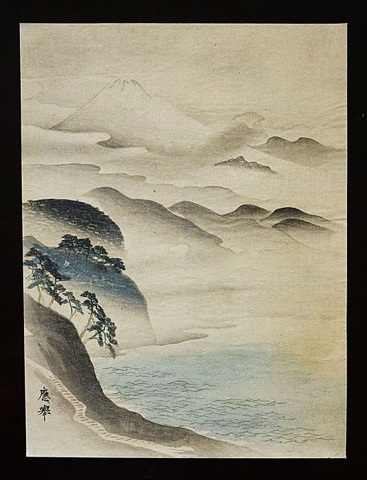 Woodblock print (reprint) - After Maruyama Ōkyo (1733–1795) - Fuji - Early 20th century