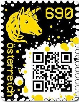 Austria 2019 - Crypto stamp in yellow