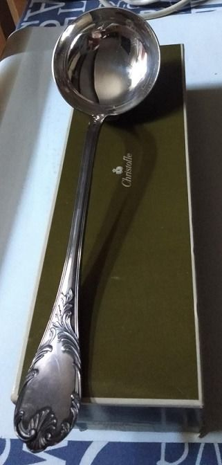 CHRISTOFLE MARLY: Ladle in perfect condition in its original box - Silver plated - France - Early 20th century