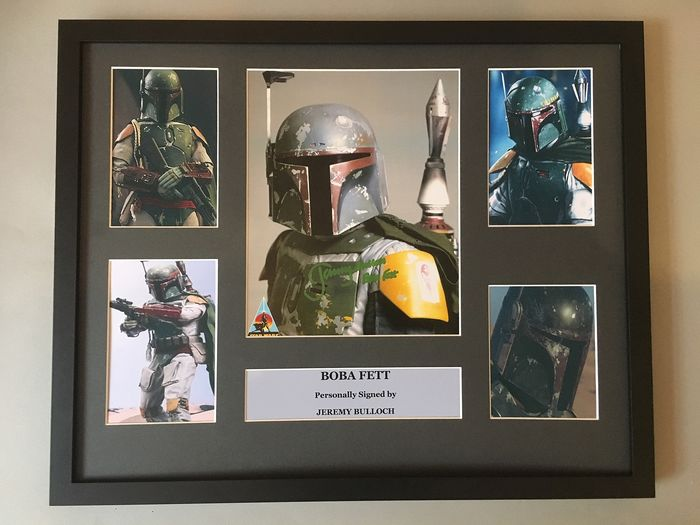 Star Wars - Boba Fett - Jeremy Bulloch - Signed Photo in Large Deluxe Frame - COA UACC