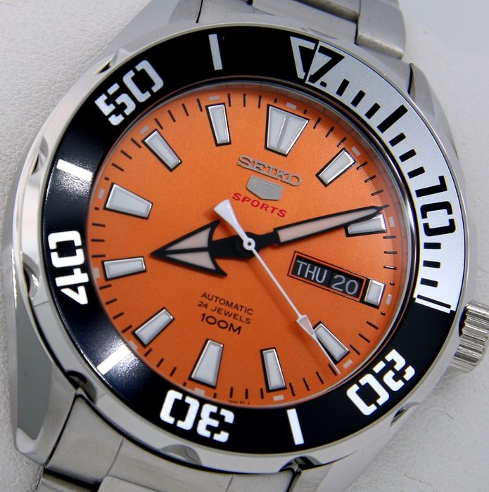 "Seiko -  Automatic 24 Jewels ""Orange Tone"" - - ""NO RESERVE PRICE"" - - Herren - 2018"