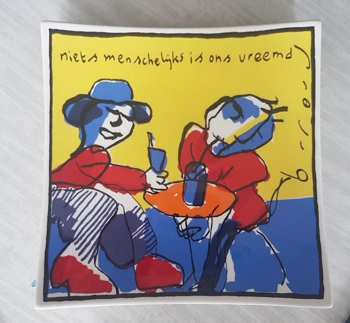 "depicting a design by Herman Brood - i.s.m. Galerie Appèlbergen - Ceramic object - ""Niets menschelijks is ons vreemd"""