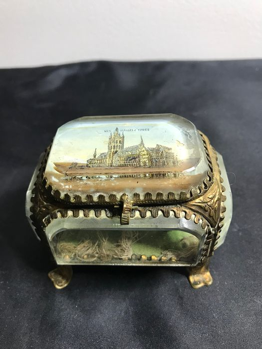 Ypres Cloth Hall - Boxes (2) - Art Nouveau - Glass, Brass