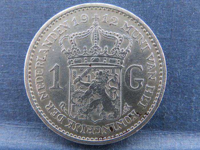 The Netherlands - 1 Gulden 1912 Wilhelmina - Silver