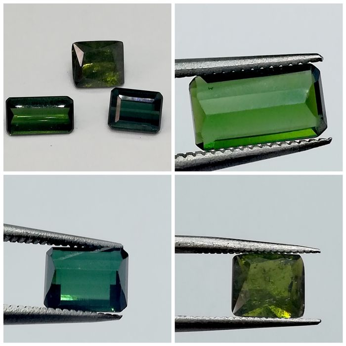 3 pcs Green Tourmaline - 4.30 ct