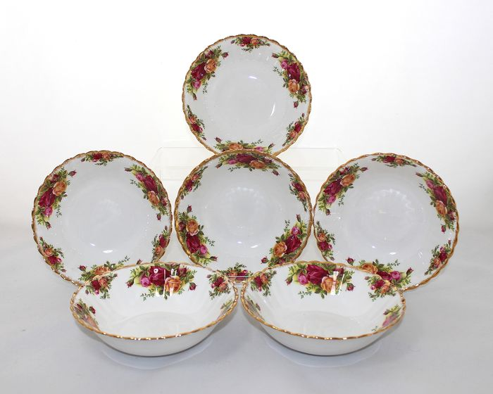 Royal Albert - Old Country Roses - Cereal/fruit/dessert bowl (6) - Porcelain