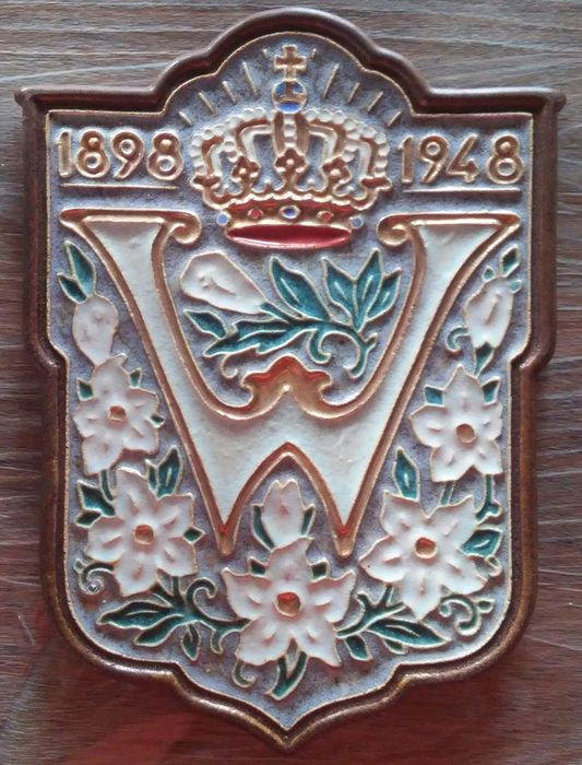 De Porceleyne Fles - Coat of arms of Queen Wilhelmina - Ceramic