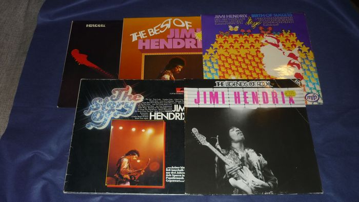 Jimi Hendrix Experience - 5 records incl. Band of Gypsys, Club Edition, Legends of Rock and more......... - Différents titres - 2xLP Album (double album), LP's - 1973/1981