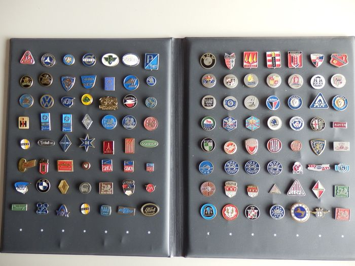 Collection of car pins - 1965