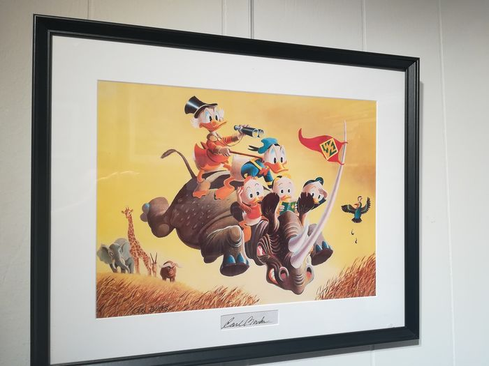 Carl Barks print with signature insert - Far Out Safari - Other - (1996)