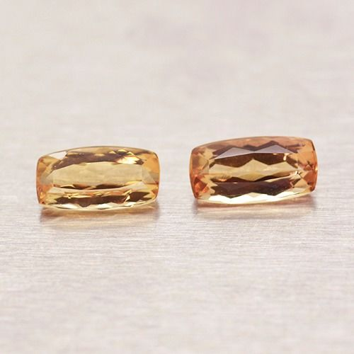 2 pcs  Imperial Topaz - 2.33 ct