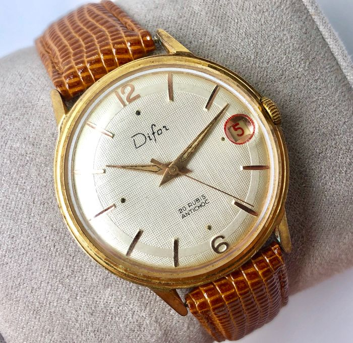 Difor «Roulette Date» - 20 Rubis Antichoc - Homme - 1960-1969