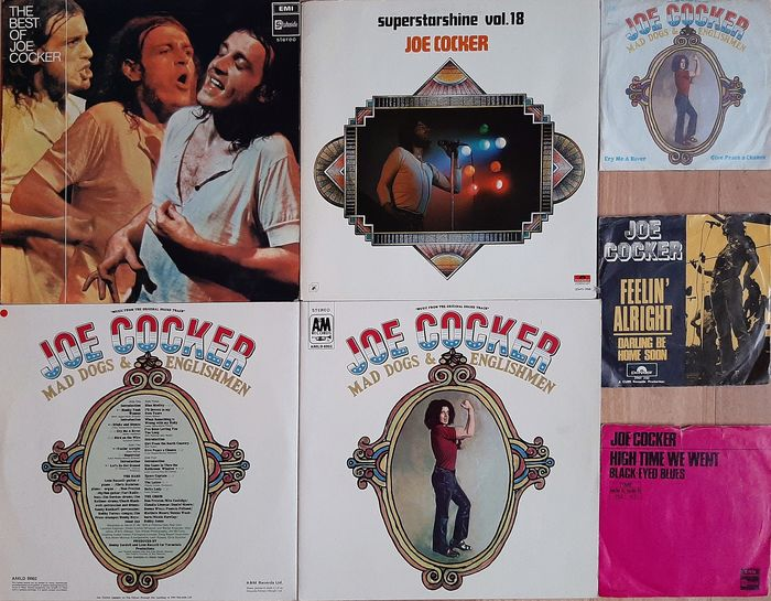 Joe Cocker - Mad Dogs & Englishmen + Superstarshine vol.18 + Best of a.o. - Diverse titels - 2xLP Album (dubbel album), 45-toerenplaat (Single), LP Album - 1970/1972