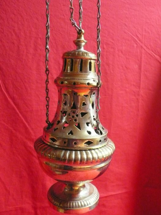 Censer - Silver brass. - End 19/early 20th.