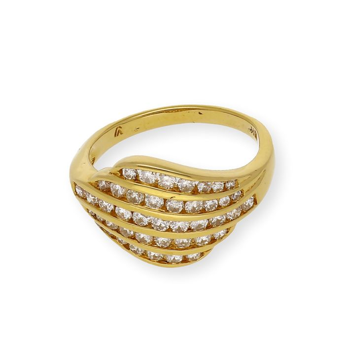 18 kt. Yellow gold - Ring Diamond