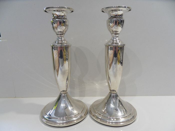Beautiful big and heavy pair of candlesticks (2) - .925 silver - Towle - U.S. - mid 20th century