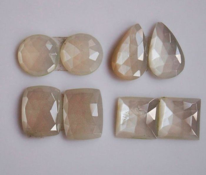 3 pcs  Moonstone  - 45.85 ct