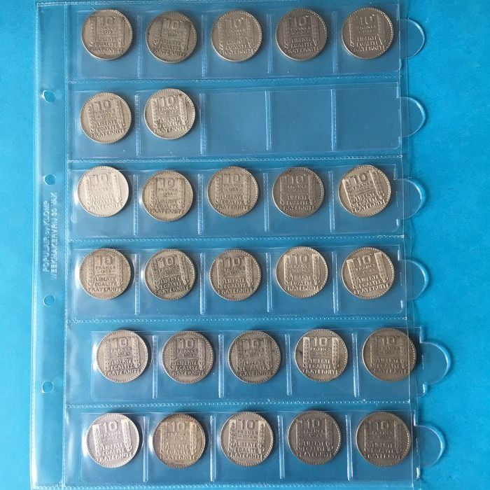 France - 10 Francs 1933/1934 Turin (27 coins) - Silver