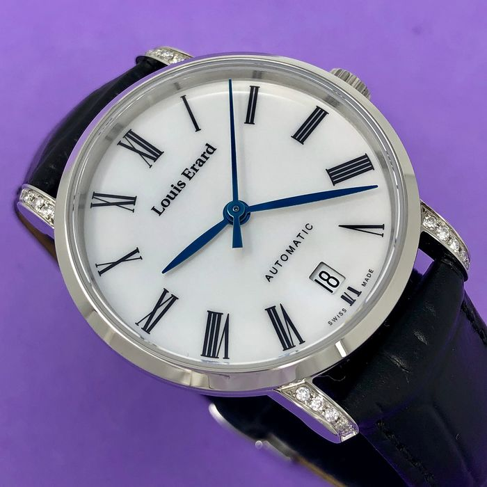 Louis Erard - Diamond Automatic Excellence Collection Mother of Pearl Swiss Made - 68235CS04.BDC62 - Damen - BRAND NEW